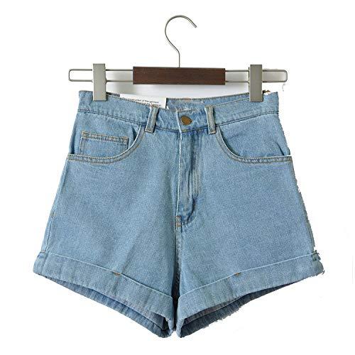 a76e07aa0ef Women Denim Shorts Vintage High Waist Cuffed Jeans Shorts Street Wear Sexy  Shorts