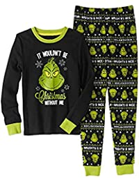 Boys Stole Christmas Holiday 2-Piece Sleepwear Set