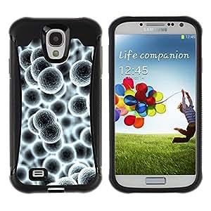 Paccase / Suave TPU GEL Caso Carcasa de Protección Funda para - Cells Molecul Enlarged Grey Wallpaper - Samsung Galaxy S4 I9500