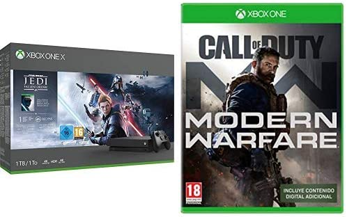 Microsoft - Consola 1 TB, Mando Inalámbrico + Star Wars Jedi: Fallen Order (Xbox One X) + Call of Duty: Modern Warfare (Edición Exclusiva Amazon): Amazon.es: Videojuegos