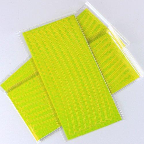 4 Pcs Reflective Cycling Car Rim Stripe Wheel Motorcycle Tape Stickers (Yellow)