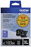 Brother Genuine LC1032PKS High Yield XL Black Ink Cartridges