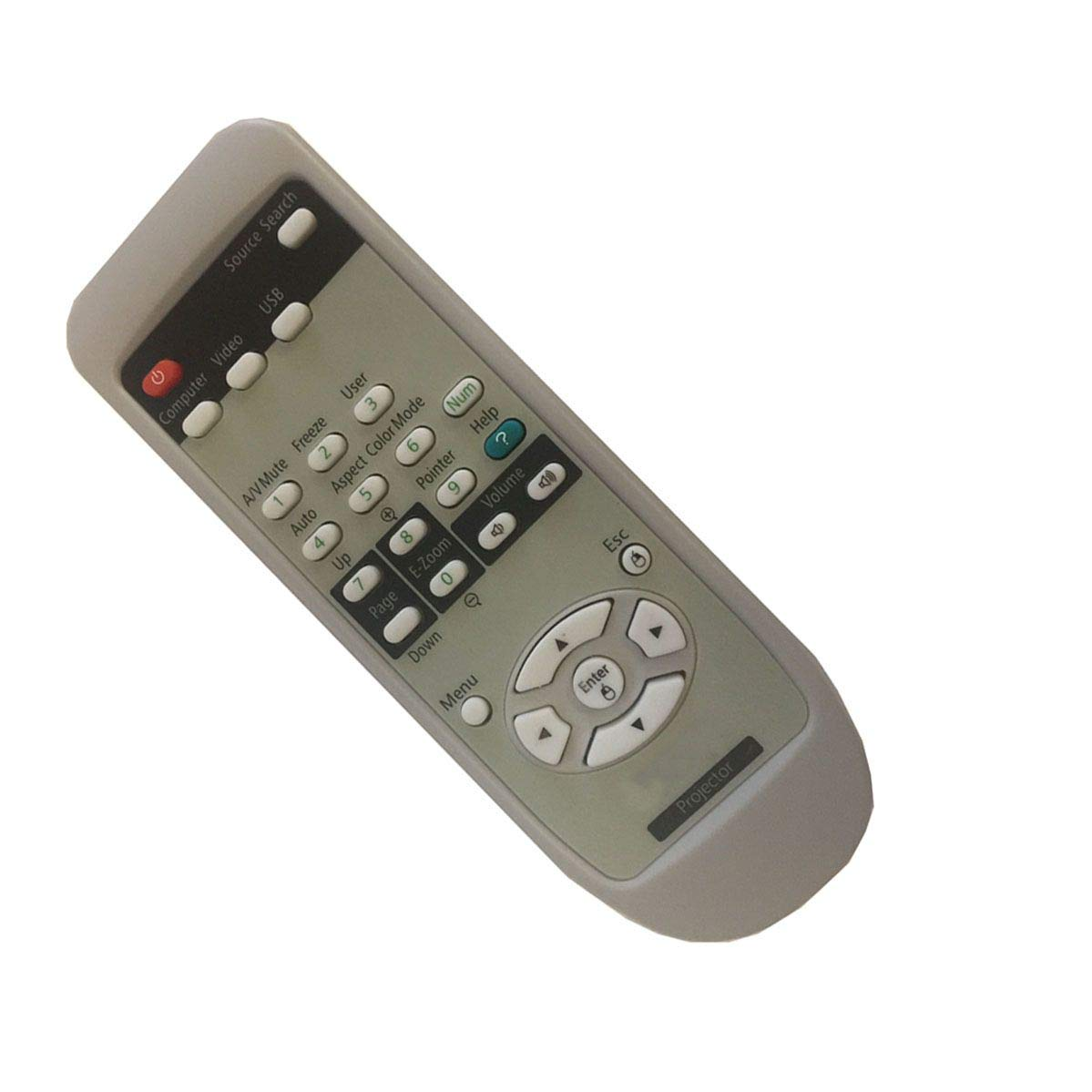 Easy Replacement Remote Conrtrol Suitable for Epson EB-G5900 EB-G5800 Projector by EREMOTE