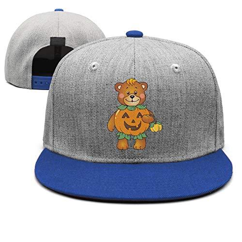 Halloween Pumpkin Bear Unisex Classic Hip hop Baseball Cap Low Profile Snapback hat Sport Cap One Size ()