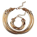 KTYX Japan and South Korea Geometric Circle Necklace Personality Wild 399cn Jewelry (Color : Gold)