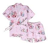 DRAGON SONIC Japanese Style Kimono Pajamas Summer Cotton Steaming Clothes,M3