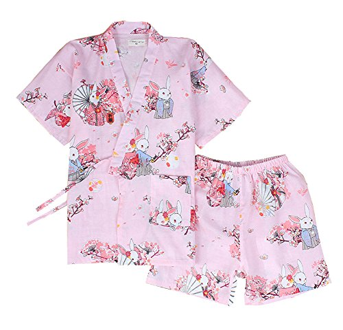 DRAGON SONIC Japanese Style Kimono Pajamas Summer Cotton Steaming Clothes,M3 by DRAGON SONIC