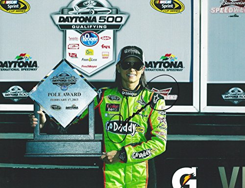 AUTOGRAPHED 2013 Danica Patrick #10 GoDaddy Racing Team (Stewart-Haas) DAYTONA 500 POLE AWARD TROPHY 9X11 Signed Picture NASCAR Glossy Photo with COA (Danica Patrick Photograph)