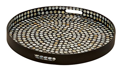 Deco 79 Wood Lacquer Tray, 24 by 3-Inch