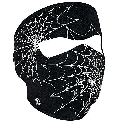 - ZANheadgear Neoprene Full Face Mask, Spider Web, Glow in the Dark
