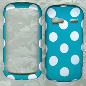 LG Turquoise Polka Dots Phone Cover Case AT&T LG Xpression C395 Faceplate Protector