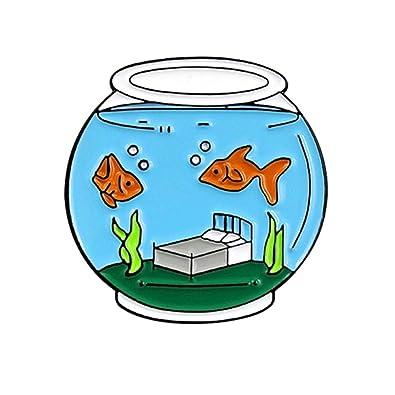 Momangel Moda linda pecera peces de colores acuario color gota aceite broche accesorios Blue: Amazon.es: Joyería
