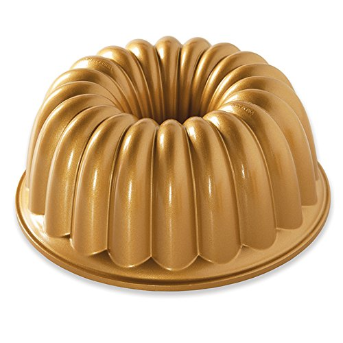 Nordic Ware 58677 Elegant Party Bundt Pan, One, Gold -