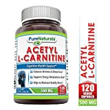 Best Acetyl L-carnitine Pures - Pure Naturals Acetyl L-Carnitine Capsules, 500 mg, 120 Review