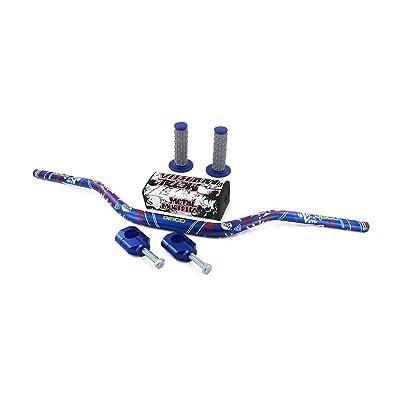 "JFG RACING 1-1/8"" 28mm Handlebar Fat Handle Bar & Riser Mount Clamp & Pad & Grips Set For Honda CR125R CR250R CRF250R CRF450R CRF450RX CRF250X CRF450X KAWASAKI KX125 KX250 KX250F KX450F SUZUKI RMZ250: Automotive"