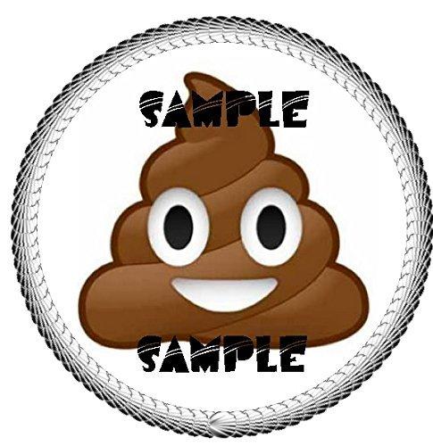 Poop Emoji Edible Cake Topper