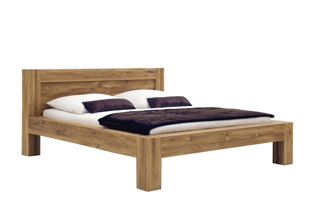 SAM® Massives Holzbett Balder aus Wildeiche geölt 180 x 200 cm