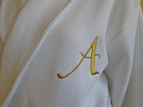 Albornoz de Rizo Color Blanco 100/% algod/ón Blanco BGEUROPE Hotel and SPA Edition 100/% algod/ón Small