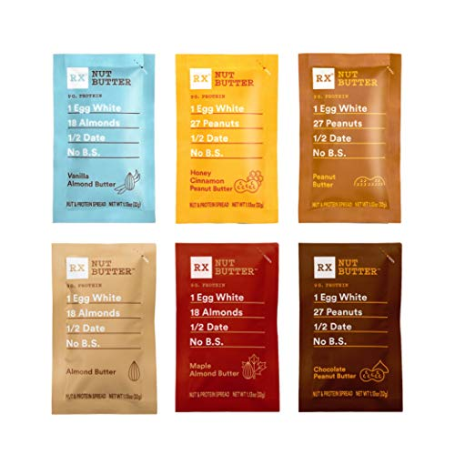 RXBAR RX Nut Butter, 6 Flavor Variety Pack, Gluten Free, Keto Friendly, 1.13 Ounce (Pack of 10)