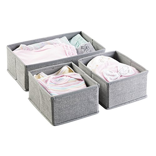 mDesign Nursery Organizer Clothing Diapers