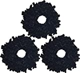 Ababalaya Women's 3pcs Volumising Scrunchie Big Hair Tie Ring Hijab Volumizer Khaleeji Headwear,Black 3pcs