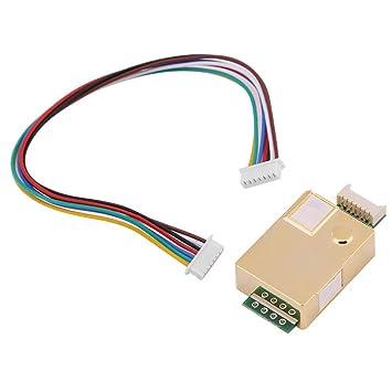 mh-z19 infrarrojos CO2 Sensor de calidad del aire interior Monitor de dióxido de carbono CO Carbon detector Tester: Amazon.es: Electrónica