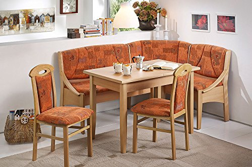 Modern Home and Kitchen Breakfast Nook, The Santiago Dining Set in a Terra Cotta. This Dining Room Set is Perfect for your Kitchen (Furniture Nook Breakfast Sets)