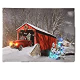 BANBERRY DESIGNS Red Truck Canvas Print - Christmas