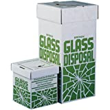 "Bel-Art Scienceware 246530001 Disposal Floor Carton for Glass, 27"" Height X 12"" Width x 12"" Depth (Pack of 6)"