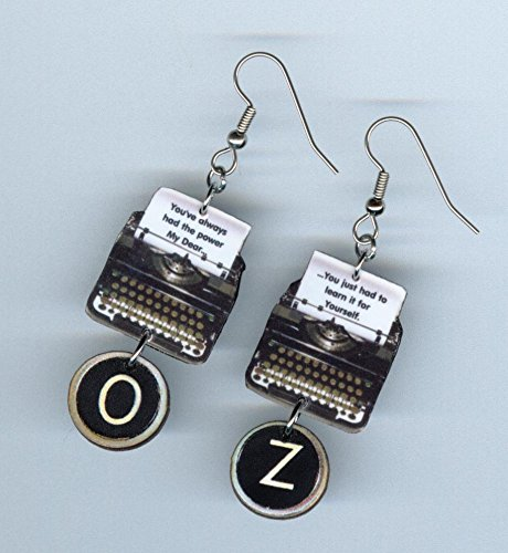 Amazoncom Oz Quote Typewriter Earrings Youve Always Had The Power