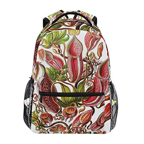 Stylish Plants Pitcher Tropical Backpack- Lightweight School College Travel Bags, Chunbb 16