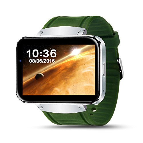 Amazon.com: elk-pace Lemfo LEM4 2.2 inch big Screen Smart Watch android smartwatch relogio reloj inteligente wearable devices 512MB + 4GB - Silver -: Cell ...