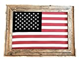 Large Barnwood Framed United States of America-U.S. Flag-Free Shipping