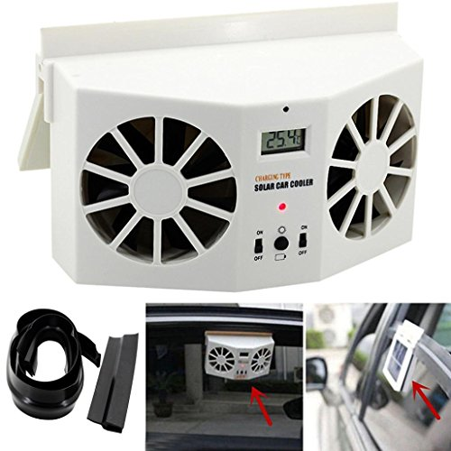 Lookatool Solar Powered Car Window Air Vent Ventilator Mini Air Conditioner Cool Fan NEW (White) by Lookatool
