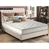 Greaton Medium 12-Inch Innerspring Double Sided Pillow Top Mattress No Assembly Required, Not Standard 74x33, Size