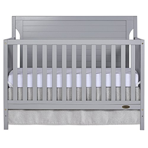 Dream On Me Cape Cod 5 in 1 Convertible Crib in Pebble Grey