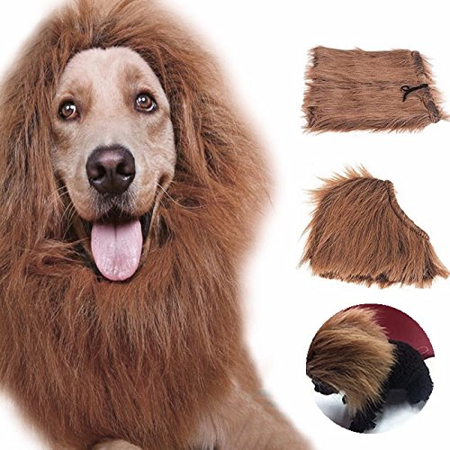 Superior Pet Costume Cat Clothes Fancy Dress Up Lion Mane Wig for Cats Small Large Dogs-Ez2Shop