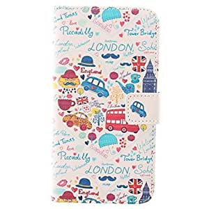 YXF Letters And Cartoon Car Combination PU Protective Case with Card Slot for Samsung Galaxy S5 I9600