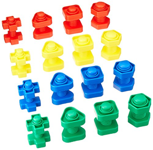 Childcraft Manipulatives Nuts and Bolts, Ages 3 and Up, Set of 64