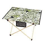 Outdoor Picnic Table Camping Portable Aluminum Alloy Folding Table Waterproof Oxford Cloth Ultra Light Durable Tables Camouflage Green