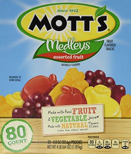 Motts Medleys All Natural Fruit Snacks 80 Pouch Variety Pack