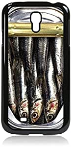 Open Can of Sardines- Case for the Galaxy S4 i9500 -Hard Black Plastic Case