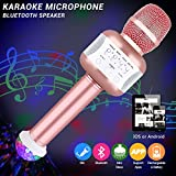 Karaoke Microphones, Microphone With Disco Lights Wireless Karaoke Microphone Battery Microphone Wireless Installation