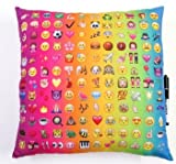 Bunk Junk Multi Emoji Autograph Pillow for Sleepaway Camp, College, Birthdays, Parties, and Family Events