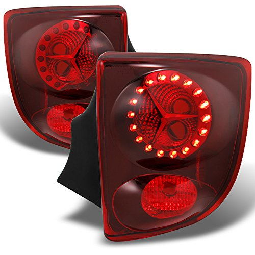 Toyota Celica 2Dr Coupe LED Style Red Lens Tail Lights Brake Lamps Replacement Left + Right Pair (2dr Left Tail Lamp)