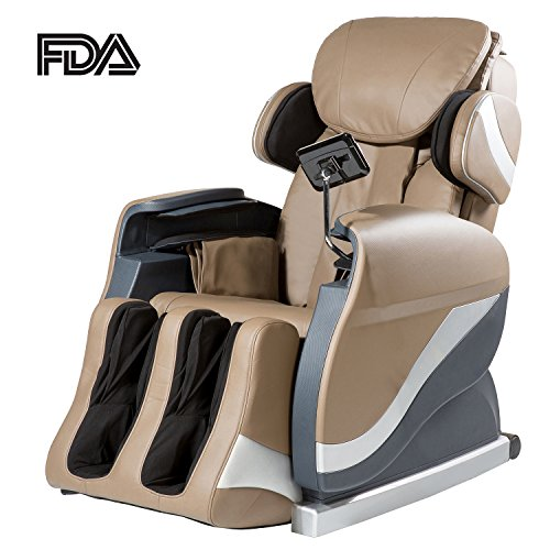 Merax Massage Chair Recliner Chair with Air Massage System Shiatsu Massage Chair (brown)