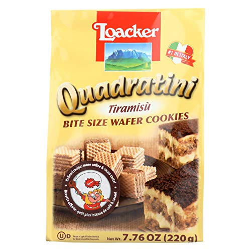 Loacker Tiramisu - Loacker Quadratini Tiramisu Cream Wafer Cookies, 7.76 Ounce - 8 per case.