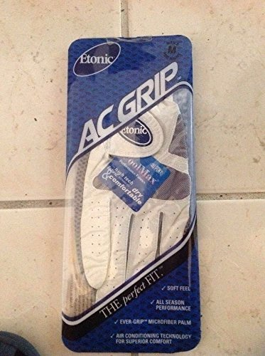 6 Etonic AC Grip Cool Max Men's Left Hand Golf Gloves (6 per Box) (Medium) RH Golfer ()