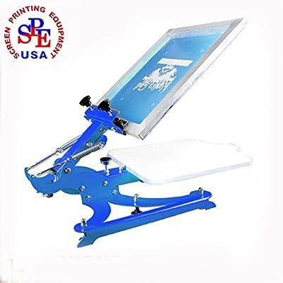 1 Color Silk Screen Printing Press Screen Printer T-shirt Heavy Duty DIY Screen Printing 4 Direction Adjust Platen