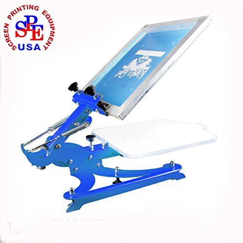 1 Color Silk Screen Printing Press Screen Printer T-shirt Heavy Duty DIY Screen Printing 4 Direction Adjust Platen